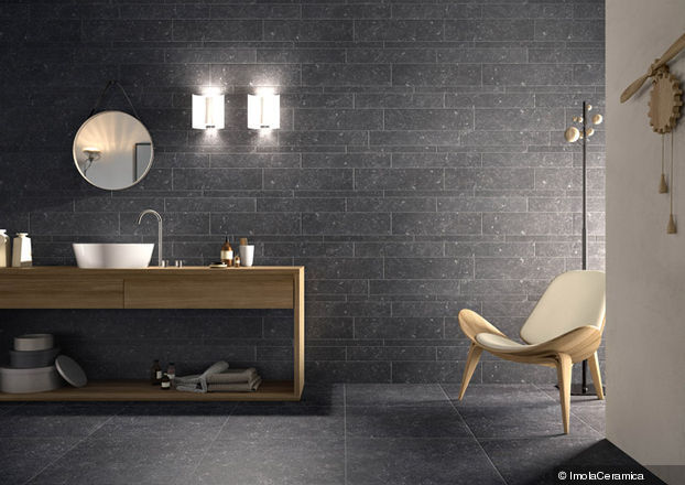 Antraciet Vloertegels Keuken : Bluestone Porcelain Tile Look